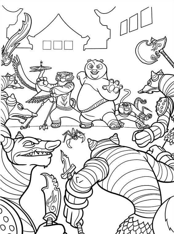 Kung fu panda da colorare 68