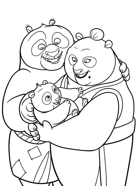 Kung fu panda da colorare 72