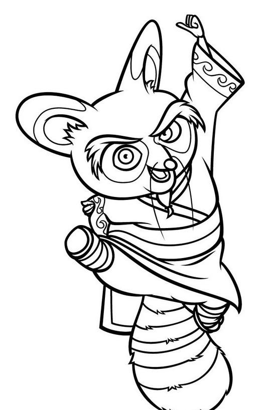 Kung fu panda da colorare 80