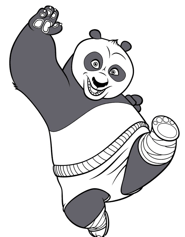 Kung fu panda da colorare 81