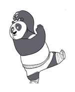 Kung fu panda da colorare 83