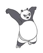 Kung fu panda da colorare 85