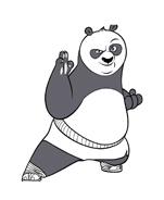 Kung fu panda da colorare 86