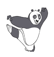 Kung fu panda da colorare 87