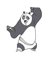 Kung fu panda da colorare 88