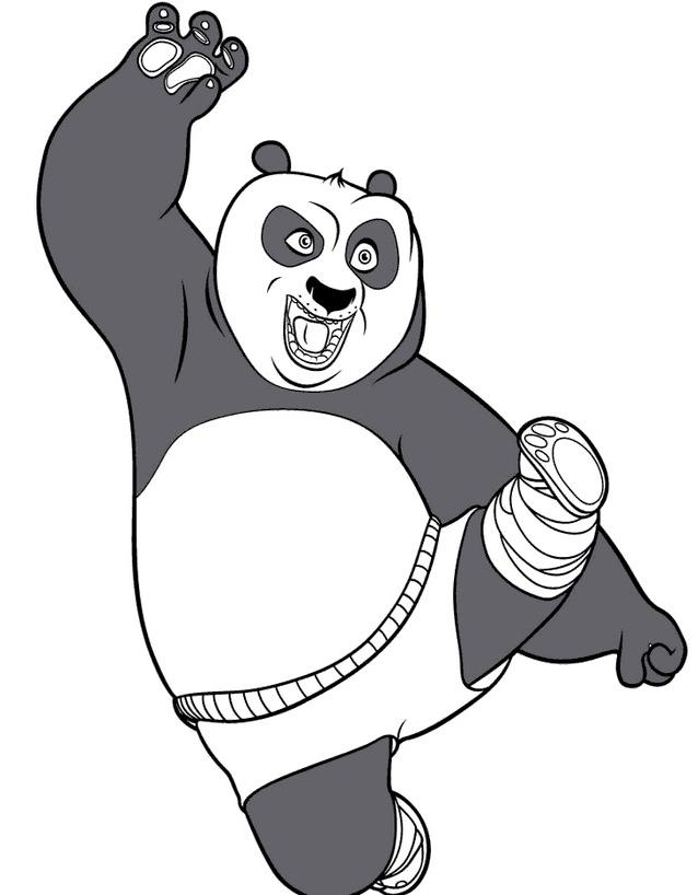 Kung fu panda da colorare 89