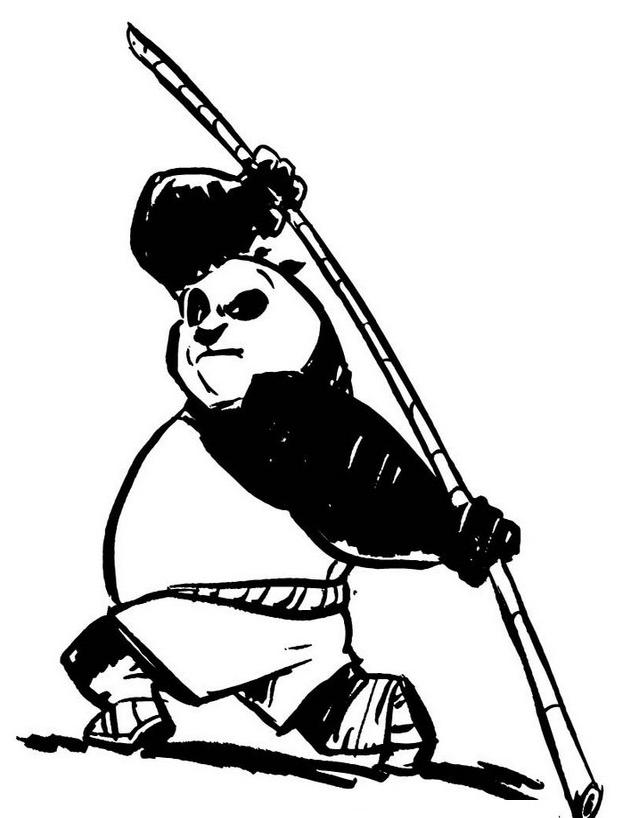Kung fu panda da colorare 105