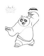 Kung fu panda da colorare 110