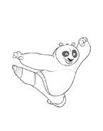 Kung fu panda da colorare 121