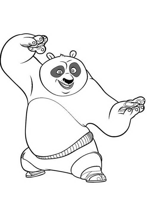 Kung fu panda da colorare 122
