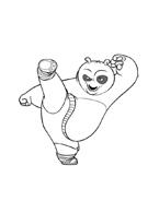 Kung fu panda da colorare 123