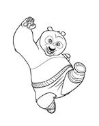 Kung fu panda da colorare 124