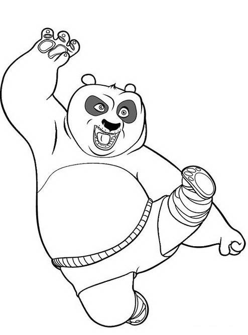 Kung fu panda da colorare 125