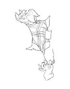 Lilli e il vagabondo da colorare 20