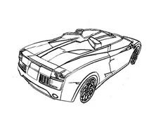 Automobile da colorare 309