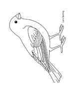 Uccello da colorare 184