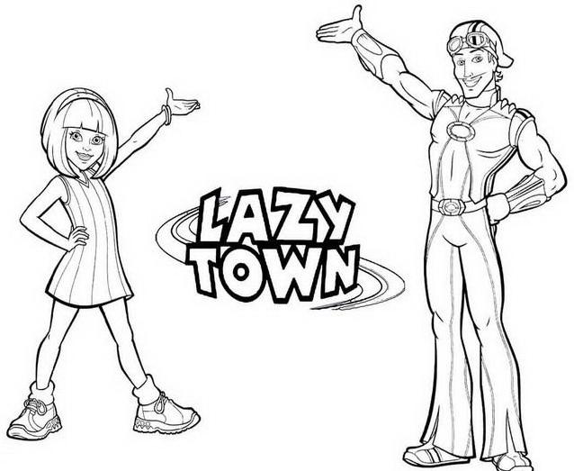 Lazytown da colorare