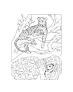 Leopardo da colorare 2