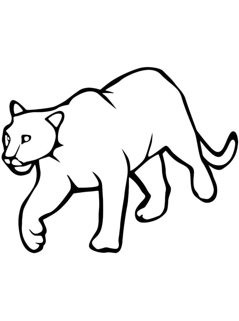 Leopardo da colorare 12