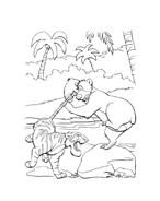 Il libro della giungla da colorare 134