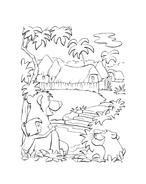 Il libro della giungla da colorare 141