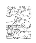 Il libro della giungla da colorare 166