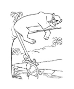 Il libro della giungla da colorare 173