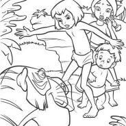 Il libro della giungla da colorare 207