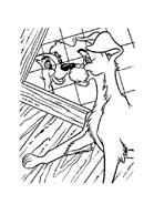 Lilli e il vagabondo da colorare 92