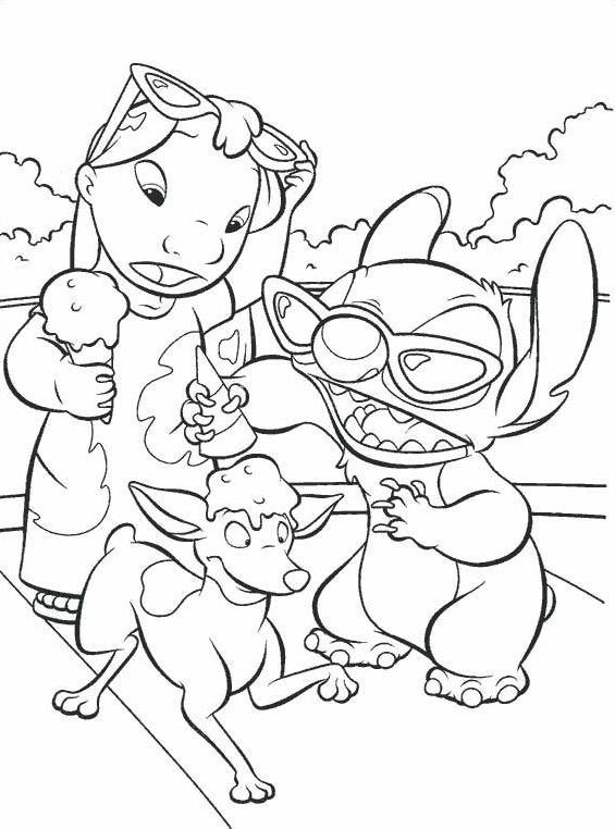 Lilo e stitch da colorare 9