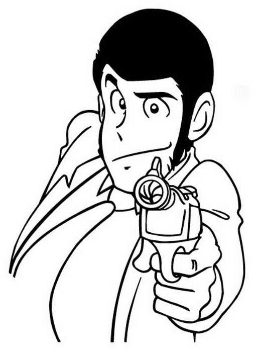 Lupin da colorare 3