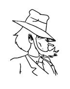 Lupin da colorare 7