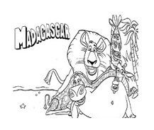 Madagascar da colorare 123