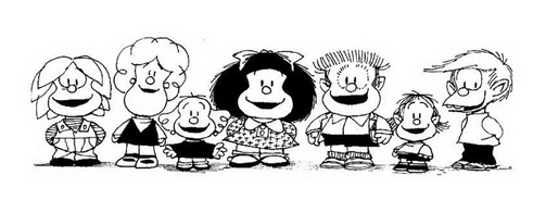 Mafalda da colorare