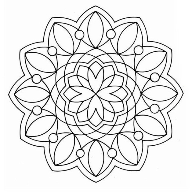 Mandala da colorare 2