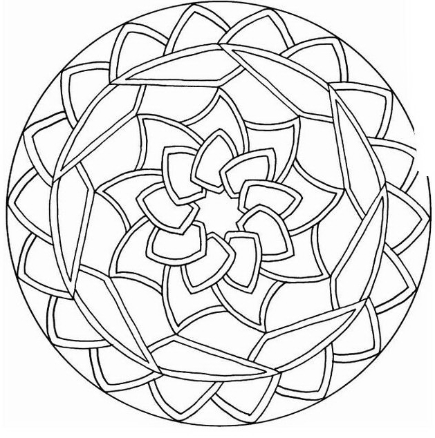 Mandala da colorare 3