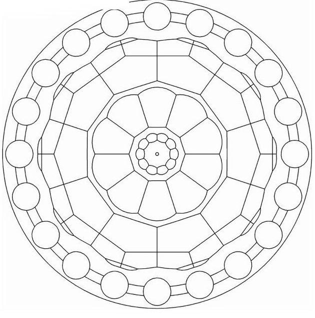Mandala da colorare 7