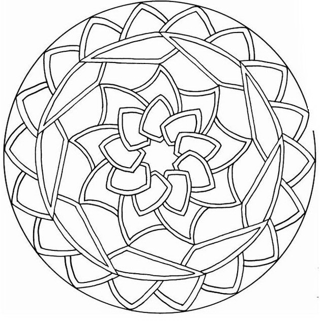Mandala da colorare 14