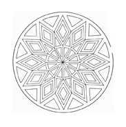 Mandala da colorare 17