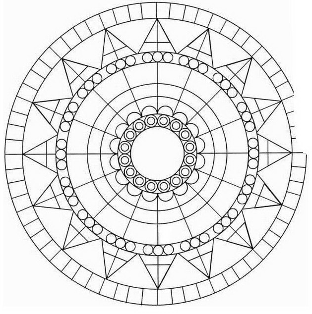 Mandala da colorare 19
