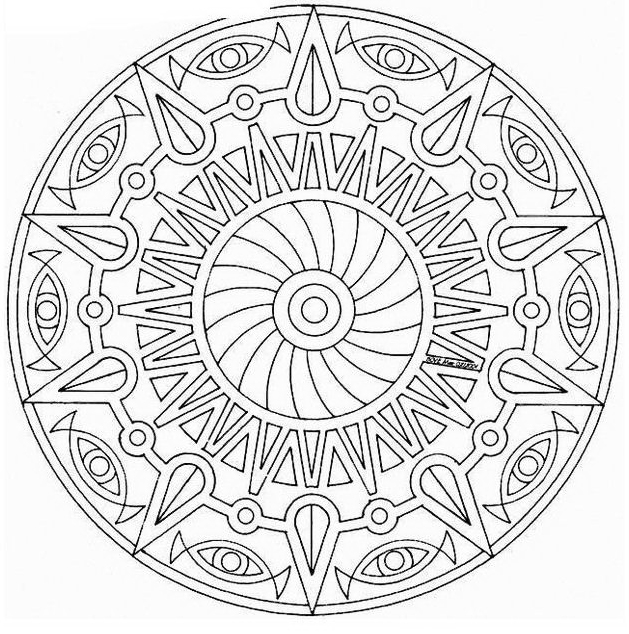 Mandala da colorare 21