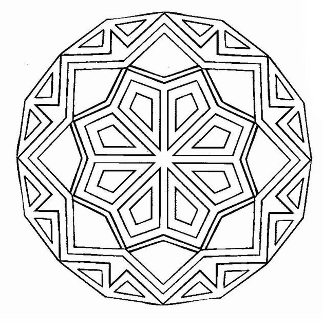 Mandala da colorare 24