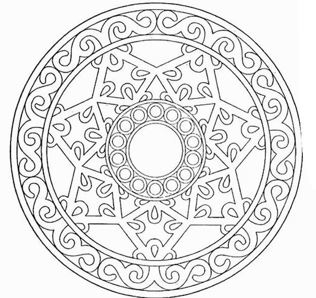 Mandala da colorare 31