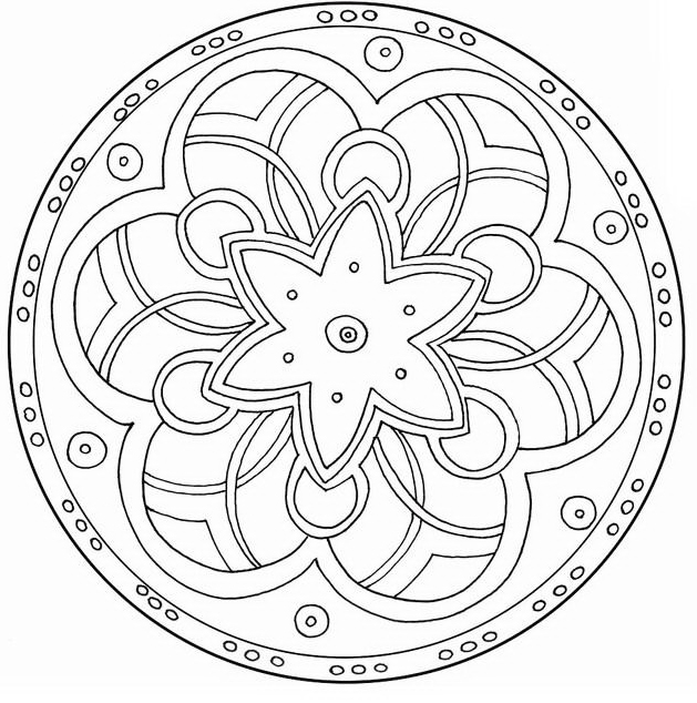 Mandala da colorare 33