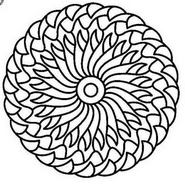 Mandala da colorare 40