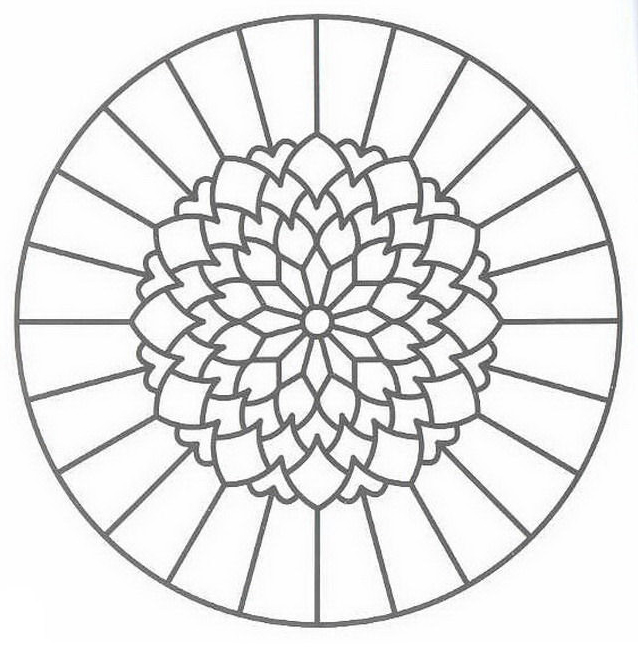 Mandala da colorare 47