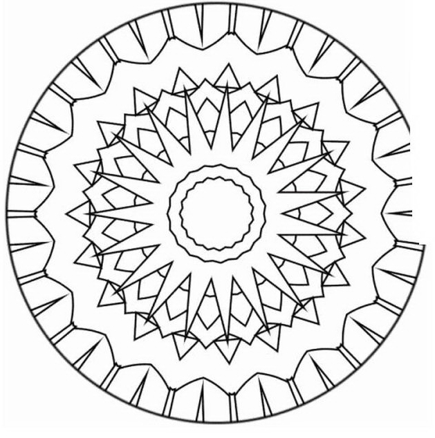 Mandala da colorare 57