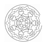Mandala da colorare 58