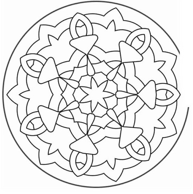 Mandala da colorare 58