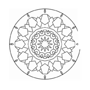 Mandala da colorare 62